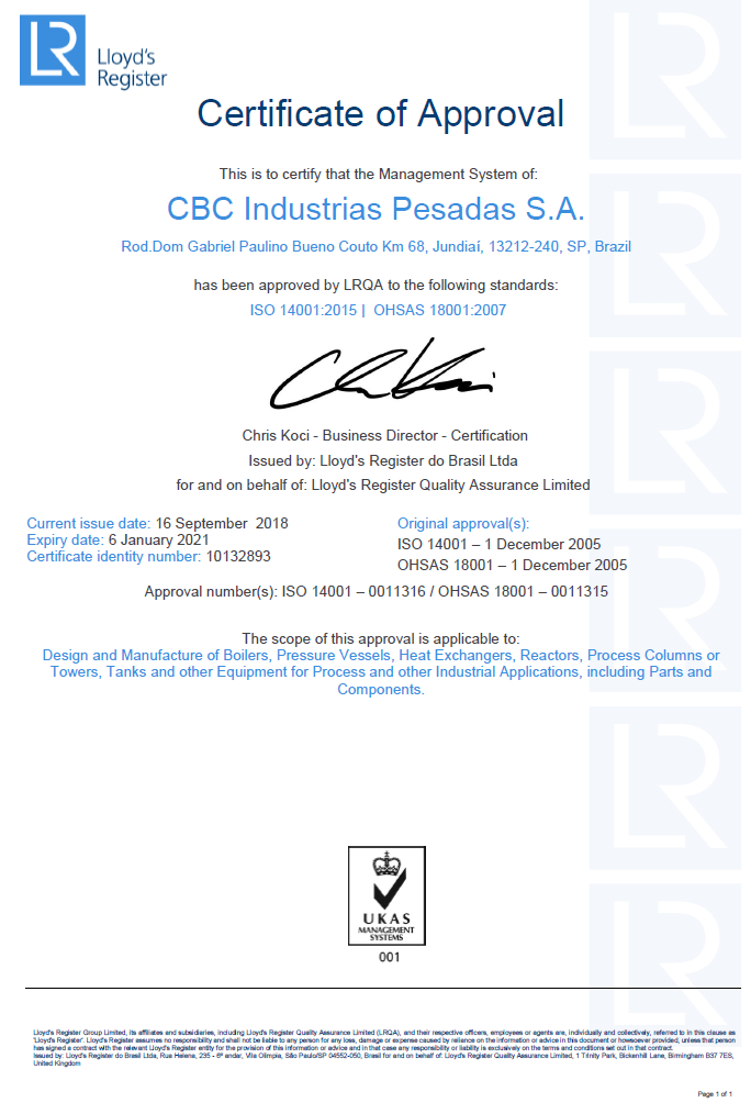 ISO 14001 / OHSAS 18001